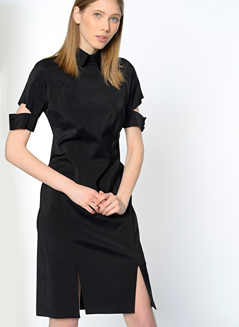 Utopian Kısa Abiye Elbise Siyah